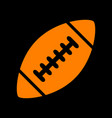 american simple football ball orange icon on vector image vector image