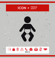 baby icon vector image