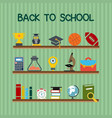 back to school typographic design with stylish vector image