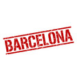 barcelona red square stamp vector image vector image