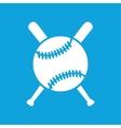 Baseball icon 2 simple vector image