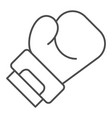 boxing glove thin line icon sport equipment vector image vector image