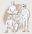 Boys People sketch vector image vector image
