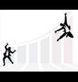 businessmans development jump vector image vector image