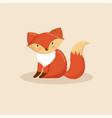 cartoon animal cute fox vector image vector image