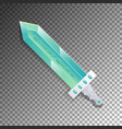 cartoon broadsword isolated game element vector image vector image