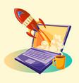 cartoon startup concept vector image