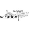 cheap jamaican vacations how to find them vector image vector image