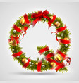 christmas font letter q of christmas tree vector image
