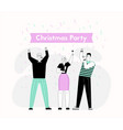 christmas party and happy new year celebration vector image