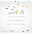 Colorful confetti background with place for text vector image vector image