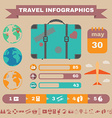 Colorful Travel infographic Banner vector image vector image