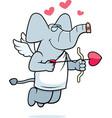 cupid elephant vector image vector image