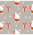 cute bunny christmas seamless pattern theme vector image vector image