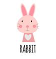 cute little rabbit animal icon vector image