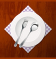 cutlery on a table vector image vector image
