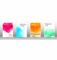 design cover with a picture of watercolor spray vector image vector image