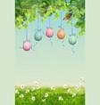 easter landscape vector image