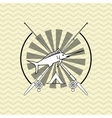 Fishing design rod and lure vector image vector image