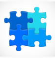 four piece puzzle solution concept vector image vector image