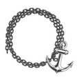 frame chain and anchor in engraving style design