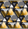 gold and black color creative repeatable motif vector image