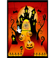 Halloween cover design with pumpkin vector image vector image