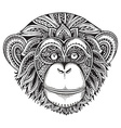 hand drawn monochrome of ornate entangle chi vector image vector image