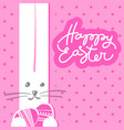 happy easter template vector image vector image