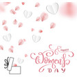 happy womens day banner vector image vector image