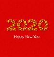 holiday new year 2020 gift card vector image vector image