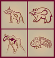 Indian animals vector image vector image
