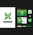 initial x monogram logo design template vector image vector image