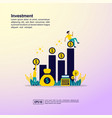 investment concept with character template for vector image vector image