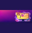 javascript concept banner header vector image vector image