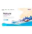 landing page screen nature landscape template vector image vector image