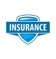 logo template for an insurance company vector image vector image