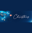 merry christmas and happy new year holiday vector image vector image