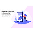 mobile payment online service for modern business vector image vector image