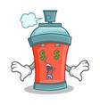 money eye aerosol spray can character cartoon vector image vector image