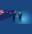 new zealand international partnership diplomacy vector image vector image