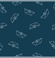 origami paper boat seamless pattern vector image vector image