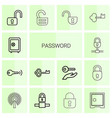 password icons vector image vector image
