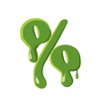 Percent sign made of green slime vector image vector image
