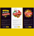 pizza restaurant web pages vector image