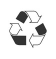recycled sign vector image