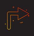 right arrow icon design vector image