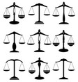 scale justice vector image