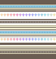 seamless horizontal striped pastel colored vector image vector image