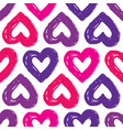 seamless pattern with hearts abstract background vector image vector image